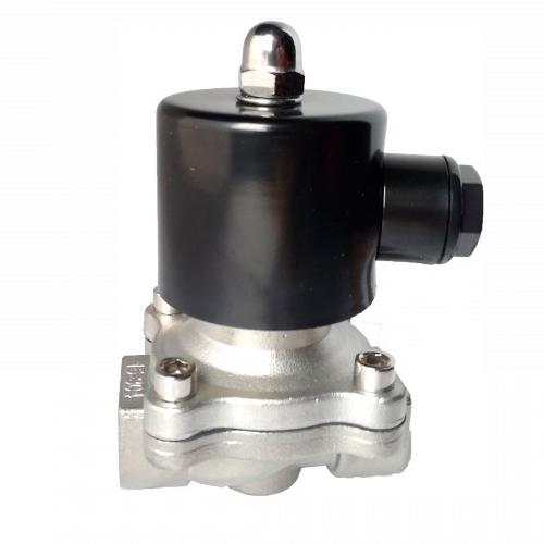 Electroválvula para fluidos 2-2 Acero inóxidable DC